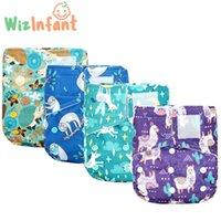Wizinfant Onesize Bookloop Pocket Pañal rápido seco ecológico Bebé Nappy para niñas y niños reutilizable con pañal de bolsillo trasero H0830