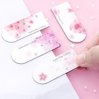 Bookmark Cute Cherry Blossom Kawaii Pink Magnetic Bookmarks For Books Student Stationery Gift School Office Supplies Paper Clip