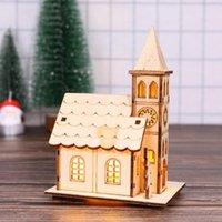 Decorações de Natal 1 pcs luminous cabine mesa decoração casa de madeira lâmpada de presente natal bonito decoração ano casa ornamentos pa r6u3