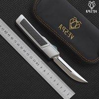 VESPA Ripper camping Knife knives folding Handle:7075Aluminum + Blade:M390(Satin) tools Double EDC CF,Outdoor survival Srgxe