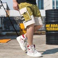 Harajuku streetwear verão casual shorts homens algodão grande bolso homens do joelho do joelho Bermuda calças curtas suor