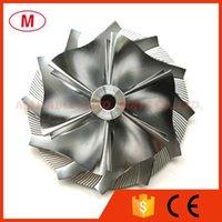 TD04HL 47.00 / 66.00mm 6 + 6 블레이드 역 성능 터보 차저 터보 빌렛 압축기 휠 / 알루미늄 2618 / 카트리지 / Chra / Core 용 밀링 휠