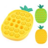 Tiktok Domates Ananas Şekli Kabarcık Poppers Fidget Sensory Parmak Bulmaca Oyunu Tahtası Push Pop Basın Kabarcıklar Dekompresyon Masaüstü Çocuk Bebek Banyo Oyuncakları G54NLQ2