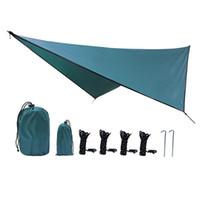 Водонепроницаемая и солнечная палатка для кемпинга для кемпинга на четырехуровневой ромбомадский брезент Beach Beach Ralking Pictic Helter Простые портативные палатки приюты