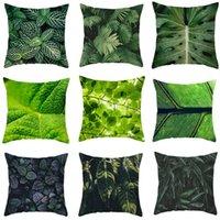 Cushion Decorative Pillow Tropical Plants Pattern Decorative Cushions Pillowcase Polyester Green Leaves Cushion Cover Throw Sofa Pillowcover
