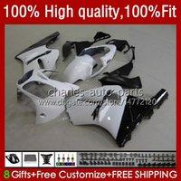 Injection Fairings For KAWASAKI NINJA ZX1200 ZX 12R 1200CC 1200 CC ZX1200C ZX 12 R 02-06 3No.37 ZX12R 02 03 04 05 06 ZX-12R 2002 2003 2004 2005 2006 OEM Body Kit white glossy