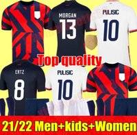 2021 2022 Männer Frauen Kinder Fußball Christian Pulisische Trikots 21 22 Alex Morgan Julie Ertz Megan Rapinoe USA Presse Lloyd Heath Yedlin Dempsey Altidore Football Shirt
