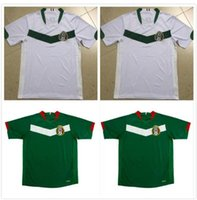 06 المكسيك الرجعية Soccer Jersey Borgetti R.Marquez خمر C.Salcido G.Franco Camiseta de Futbol Home Blue Away قميص كرة القدم الأبيض
