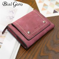 Wallets BISI GORO Fashion Women Short Purses PU Leather Female Wallet Perse Card Holder Coin Money Bag Soft Dollar Price Ladies
