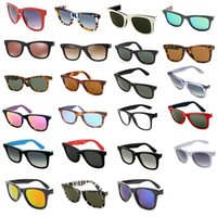 العلامة التجارية الكلاسيكية نظارات الرجال المرأة ساحة خمر طباعة نظارات الشمس مصمم الرجعية نظارات 23 ألوان
