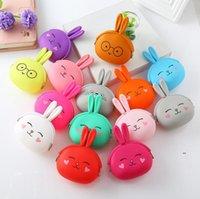 Silicone Coin Purse Cute Cartoon Rabbit Coin Purse Women Girls Small Wallet Mini Key Bag Kawaii Pouch Gift EWF7678