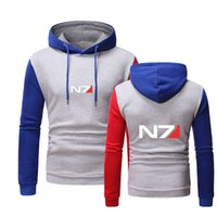 Mass Effect N7 Print Custom Casual Designer Autumn Harajuku Hoodie Comfortable Trendy Sportswear Men's Sweater