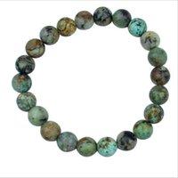 Cuentas, hebras turques naturales abalorios pulseras hombres 8mm Lazuli Beads de piedra curativo Pulsera de yoga para mujeres Chakra Lazurite Joyería Pulso