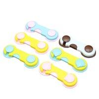 Cerraduras de seguridad Anti-Pinch Función Multifunción Infantil Bebé Cajón de bebé y refrigerador Puerta Niño Lock Color Color Color