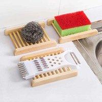 Natürliche Holz Seifenschale Holz Seifenschale Halter Kreative Lagerung Seife Rack Platte Box Behälter Für Badewanne Dusche Badezimmer Zubehör DBC BH2964