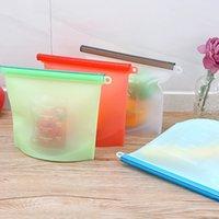 1000 мл многоразовая силиконовая сумка для хранения вакуумных герметичных пищевых консерваций герметичный пакет складной портативный холодильник хранения сумки FWB6170