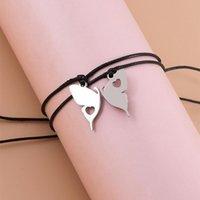 Charm Bracelets Couple Friendship Set For Women Heart Yin Yang Memory Elephant Butterfly Handmade Woven Bracelet Family Jewelry