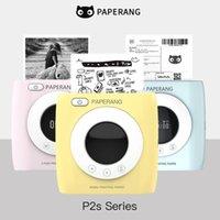 Paperang P2s Mini Pocket Peripage Portable HD 300dpi BT4.0 Phone Connection Wireless Po Impresora Thermal Bluetooth Printer Printers