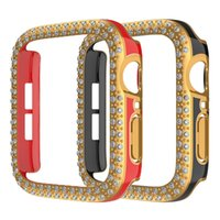 for Apple Watch 45mm Cases Laser Bling Diamond Hard PC Protector Cover 41mm 44mm 42mm 40mm 38mm