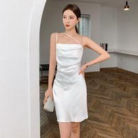 Casual Dresses Dress In The Summer Of 2021 Sexy Temperament Drape With Shoulder-straps Design Feeling Small Outer Wear