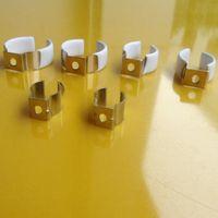Möbeltillbehör T8 LED TUBELL METAL Bashållare Clip Lampplamphållare fixtur U fluorescerande kontakt