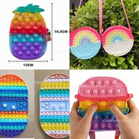 Anti Anxiety Poppet Chessboard Push Bubble Fidget Toy Kids Boy Girls Silicone Backpack Belt Crossbody Shoulder Bag Finger Puzzle Board Game Christmas Gift G96CRIX