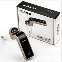 Auto Draadloze Bluetooth MP3 FM-zendermodulator 2.1A Auto Charger Wireless Kit Ondersteuning Handsfree G7 met USB-autolader met pakket