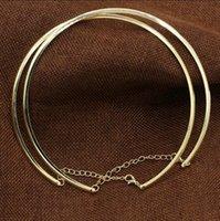 여성용 라운드 서클 토크 여성용 금속 골드 실버 와이어 목걸이 칼라 초커 패션 쥬얼리 선물 PS1188