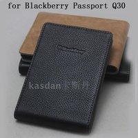 حالة جواز سفر تمساح حقيقي، حقيبة الهاتف المحمول التجارية، بلاك بيري Q30