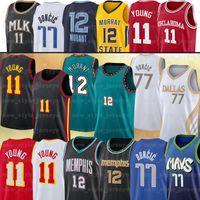11 Trae 77 Luka 12 Ja Genç Morant Doncic N Basketbol Formaları Erkekler Dikişli NCAA Kolej Forması