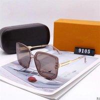 2021 النظارات الشمسية الفاخرة المصممة مع مربع من النظارات الاستقطابية عالية الجودة للرجال والنساء UV400.5AAAA