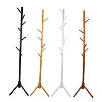 Деревянное пальто Свободно стоящая с 8 крючками Деревянная подставка для дерева для пальто Шляпы шарфы Одежда сумки