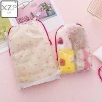 Cherry Transparent Scrub Cosmetic Bag Travel Makeup Case Women Zipper Make Up Bath Organizer Storage Pouch Toiletry Wash Kit1