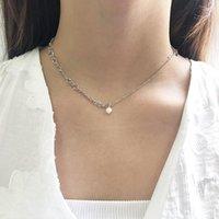 Cadenas Corea del Sur Dongdaemun S925 Pure Silver Pearl Pearl Collar Femenino Insegro Frío Aire Cross-Border Jewelry