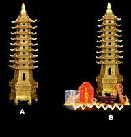 Bakır Wenchang Kulesi 9/13 Kat Açılış Ev Dekorasyon Çin Feng Shui Hediye Süslemeleri