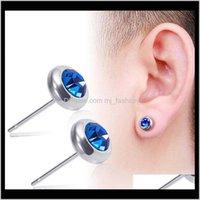 Jewelrystainless Steel Diamond Women Earrings Mens Earings Stud Ear Rings Jewelry Will And Sandy Gift 1844 Drop Delivery 2021 A1Lti