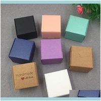 Productos Suministros Office School Business Industrial30 PCS 4x4x2.5cm Caja de papel Kraft Boda, Cumpleaños y Fiesta de Navidad Ideas de regalos, buena Q
