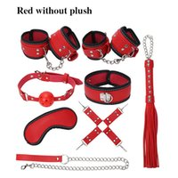 8 Pcs Set Sexy Harness Kit Fetish SM Sex Bondage Restraint Harness BDSM Erotic Slave Sex Toys Sex Toys For Couples Adult Game Y0406