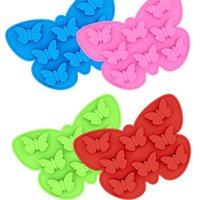 DHL FREE Ice Tray Food Grade Creative Butterfly moulds Shape Baking DIY Cake Silicone Chocolate Mould