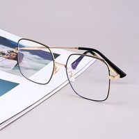 2021 new fashion can be equipped with myopia glass fashion men and women metal anti blue glass flat lens 6398CRAP