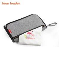 Bear زعيم المولود حفاضات الطفل أكياس الأزياء الأمومة النساء تغيير حصيرة حقيبة حفاضات ماء أكياس متعددة الوظائف 210708