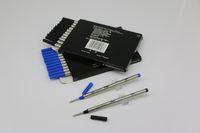 عالية الجودة الكثير من 12 قطع القلم rollerball الأسود / الأزرق 710 عبوات وسائل متوسطة نقطة يمكن خلط التجميع مع غطاء