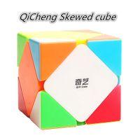 QIYI QICHENG 3X3 سرعة المواقع Skewed Magic Cube Qicheng 3x3 Skew Puzzle Magic Cubo Toy Qiyi 3x3x3 Professional Skew Cube