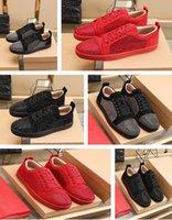 2021 (con scatola, sacchetto di polvere) Top Quality Reds Bottom Shoes Sneaker Sneaker Stress Sneakers Sole Sole Rosso Suola Donna Uomo Appartamenti Moda Scarpa casual