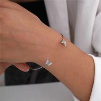 Butterfly Metal 15pcs Lot Bangle European Gold Retro Hand Ornaments Cuff Women Diamond Bracelets Jewelry Acces