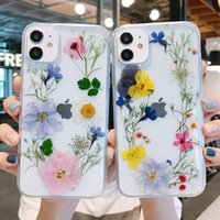Colorful Dry Flower Phone Cases For iphone 11 12 Pro Max Xs Xr SE 7 8 plus Cellphone Protective Shell Untra-Thin Clear Cover