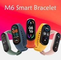 M6 Smart Armband Armbänder Sport Band 6 Fitness Tracker Passierer Herzfrequenz Sitetary Erinnern Telefon Lookup Wasserdichte Android Uhren PK M5 Smartwatch FitPro