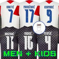 20 21 Modric 2020 2021 National Team Mandzukic Home Away Orsic Soccer Jersey Perisic Rakitic Srna Kovacic Brozovica Camicie da calcio Riga Brozovica Adulti Uomo + Kid Kit