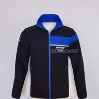 Pull en coton en molleton à glissière de moto pour Yamaha Motocross Hoodie Mens Hiver Gardez le sweat-shirt chaud