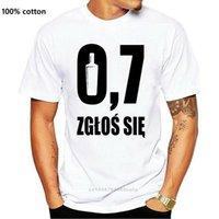 T-shirts de tendance T-shirts hommes Smieszna Koszulka Polska Alkohol à manches courtes T-shirts Smieszne en coton à la mode en coton imprimé Tops ronds